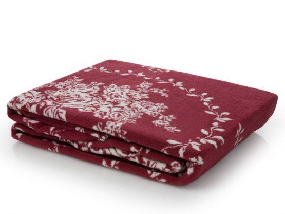 Blanket  claret red 200x220 cmDouble