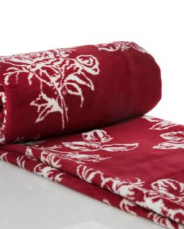 Blanket  claret red 150x200 cmSingle